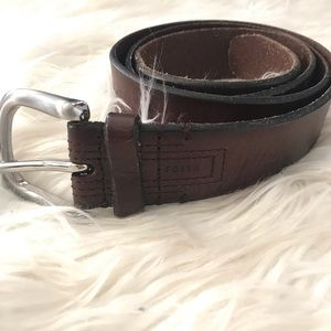 Men's Fossil brown leather distressed belt